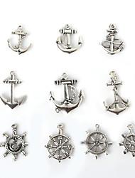 beadia de metal leme& âncora pingentes charme antigo de prata banhado jóias acessórios DIY