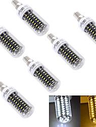 5W E14 / E26/E27 LED a pannocchia T 72 SMD 4014 300 lm Bianco caldo / Luce fredda Decorativo AC 220-240 / AC 110-130 V 6 pezzi