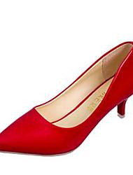 Women's Shoes Leatherette Low Heel Heels Heels Outdoor / Casual Black / Red / White