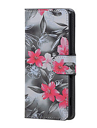 Red Flower Magnetic PU Leather wallet Flip Stand Case cover for Asus Zenfone Max ZC550KL