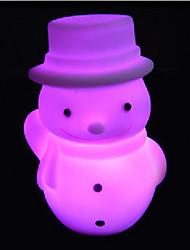 créatif couleur changeante noël bonhomme de neige LED Veilleuse nécessaire cadeau de Noël coloré