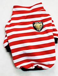 High Quality Comfortable Striped Pet T-Shirt