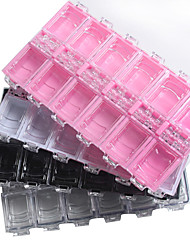 1pcs PC Material Transparent Plastic Jewelry Box
