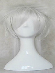 Stylish Silver  Cosplay Wig Synthetic Hair Wigs Middle Long Straight Animated Wigs Party Wigs 066B