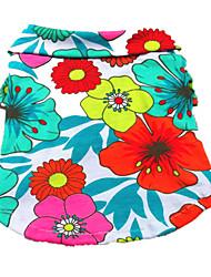 Chien Tee-shirt Multicouleur Vêtements pour Chien Eté Floral / Botanique Vacances