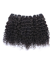 "3pcs/lot 8""-28""Brazilian Curly Virgin Hair Brazilian Kinky Curly Natural Color Kinky Curly Virgin Hair"