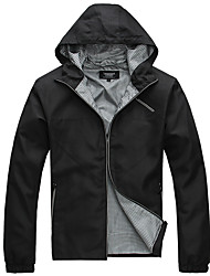 Lesmart Men's Stand Long Sleeve Jackets Black - MDME1205
