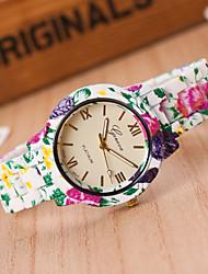 Mulheres Relógio de Moda Quartzo Plastic Banda Cores Múltiplas # 7 # 8 # 9 # 10 Arco-Íris