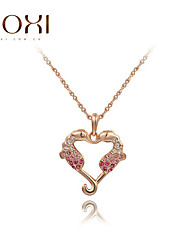 ROXI Gold Double Horse Pendant Necklace Jewelry