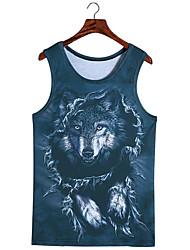 3d vest wolf vest cosplay kostuums cosplay geeky kleding voor man / vrouw