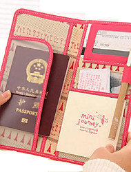 PU Travel Passport Cover Card Holder Passport Holder Cover Brand Wallet Business Documents Multi-functional Tourism