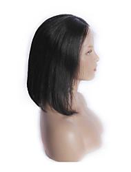 à l'état brut péruvien vierge bob cheveux dentelle noire naturelle droite perruque avant de stocks
