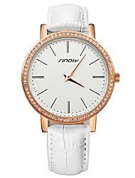SINOBI® Fashion Diamond Watch Women Rose Gold Casual Leather Clock Female Quartz Ladies Wristwatches Cool Watches Unique Watches