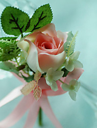 Wedding Flowers Free-form Roses Boutonnieres Wedding / Party/ Evening Cotton