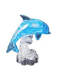 Quebra-cabeças Quebra-Cabeças 3D / Quebra-Cabeças de Cristal Blocos de construção DIY Brinquedos Golfinho ABS AzulModelo e Blocos de