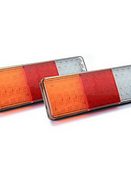 2x 75 levou luz vermelha / amarela / branca luz da cauda para reboque de barco 12v impermeável