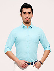 Seven brand summer new men half sleeve shirt pure leisure fashion linen man shirt slim fit young man dress shirt