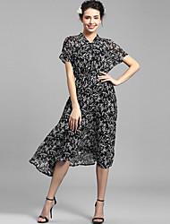 Baoyan® Женский V-образный вырез Короткие До колена Платья-160081