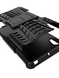 PC + Silikon Schild stehen robusten Reifen Fall für Sony Xperia x Anti Schock Abdeckung Kofferschale (verschiedene Farben)