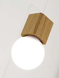Max 60W Modern Mini Style Others Wood/Bamboo Pendant LightsLiving Room / Bedroom / Dining Room / Kitchen