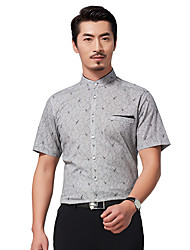 Seven brand 2016 Chinese style standing collar shirt man slim 100% cotton men colthing shirts for business