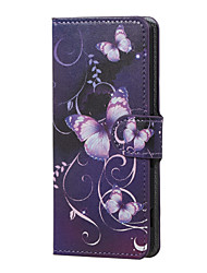For Wiko Case Card Holder / with Stand / Flip / Pattern Case Full Body Case Butterfly Hard PU Leather Wiko