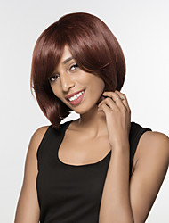 Smart Bob Hairstyles Hand Tied Top Remy Human Hair Capless Black Wigs
