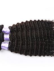 3pcs/lot Brazilian Deep Curly Virgin Hair Brazilian Deep Wave Virgin Hair Unprocessed Human Hair