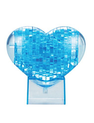 Quebra-cabeças Quebra-Cabeças 3D / Quebra-Cabeças de Cristal Blocos de construção DIY Brinquedos Forma de Coração ABS AzulModelo e Blocos
