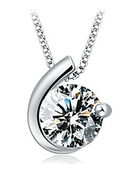 Women's Pendant Necklaces Silver Sterling Silver Birthstones Jewelry For Daily Casual