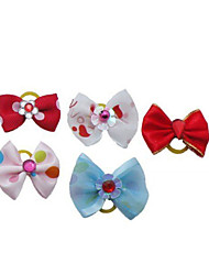 Cat Dog Hair Bow Hair Accessories Multicolor Dog Clothes Summer Spring/Fall Bowknot Cute Holiday
