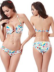 Bikinis / Zwei Stücke(Weiß) -Atmungsaktiv / Rasche Trocknung / Videokompression / Leichtes Material / Sanft- für Damen