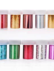 a explosão de manicure quente estrela etiqueta do prego etiqueta 10 cores mix + cola