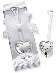 Tea Time Heart Tea Infuser in Elegant Box Wedding Favors