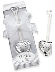 Tea Time Heart Tea Infuser in Elegant Box Wedding Favors