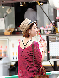 Women Straw Fedora Hat,Vintage / Cute / Casual Spring / Summer / Fall