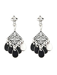 Fashion Women Trendy Cutout Disc Drop Earrings