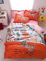 Colorful print duvet cover Sets 100% Cotton Bedding Set Queen/Double/Full Size