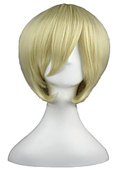 Cosplay Wigs Black Butler Alois Trancy Yellow Short Anime Cosplay Wigs 35 CM Heat Resistant Fiber Male / Female