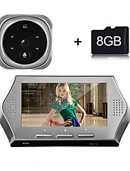 Besetey® 4.3Inch 1.0M Pixels Door camera with 8GB TF Card 4 IR Night View 160 Degree Wide Angle Lens Digital Door Viewer