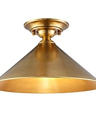 Traditional/Classic Designers Brass Metal Flush Mount Living Room / Bedroom / Dining Room / Pure Copper Dome Light