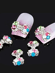 Lovely Mental Color Diamond AB Drill Bow Nail Jewelry (at Least 5Pcs)