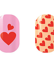 Red Love Hollow Nail Stickers