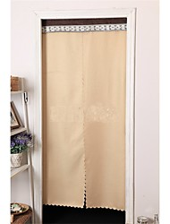 90cm*180cm Apricot Linen Door Panel Curtains Drapes