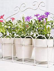 style européen fleur artificielle avec vase miniascape fixé pour fenêtre d'accueil decorartion 3pcs / set
