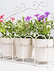 European Style Artificial Flower with Vase Miniascape Set for Home Window Decorartion 3pcs/set