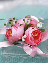 corsages de poignet de mariée en soie petit de camélia (plus de couleurs)