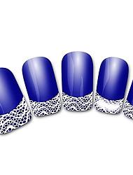 abstratos xf821 francês azul 3d adesivos de unhas