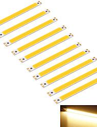 youoklight® 10pcs 10w 950lm cob 1-conduziu quente tira retângulo 3000k branco (DC 12 ~ 14V)