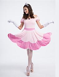 Costumes de Cosplay Princesse Conte de Fée Fête / Célébration Déguisement d'Halloween Rose Claire Mosaïque Robe Halloween Carnaval Féminin